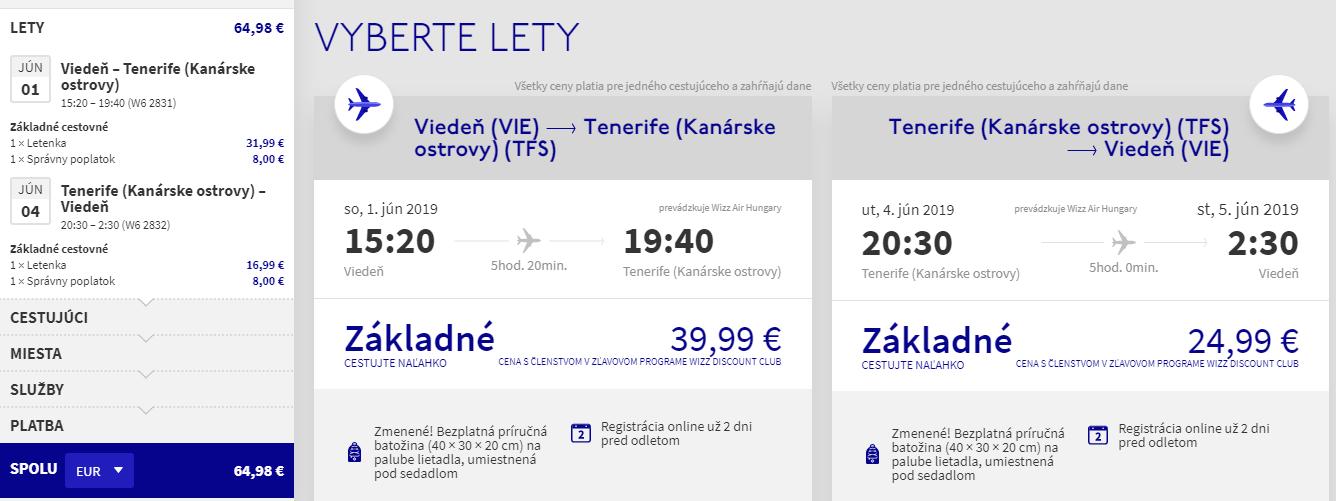 KANÁRSKE OSTROVY - Tenerife z Viedne s letenkami už od 65 eur
