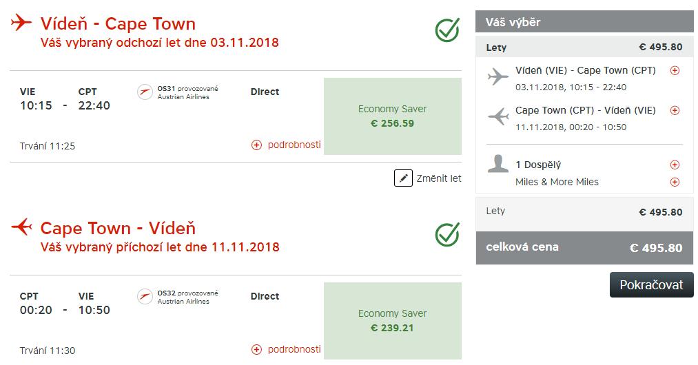 KAPSKÉ MESTO - Priame lety z Viedne s Austrian Airlines od 496 eur