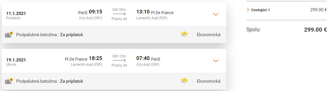 KARIBIK - Martinik s letenkami z Paríža od 299 eur