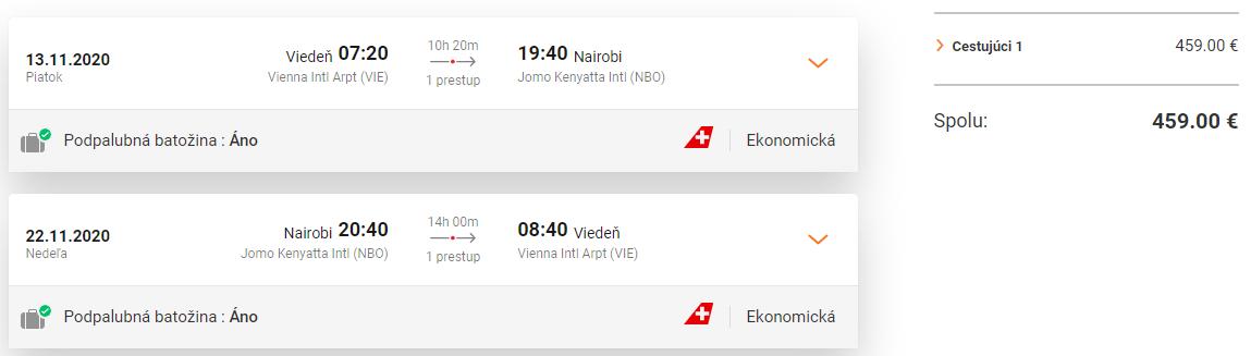 KEŇA - Nairobi z Viedne s letenkami od 459 eur