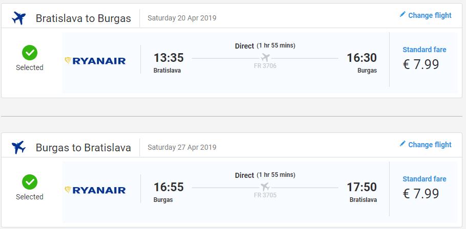 K Čiernemu moru z Bratislavy. Letenky do Burgasu v jarných termínoch od 16 eur