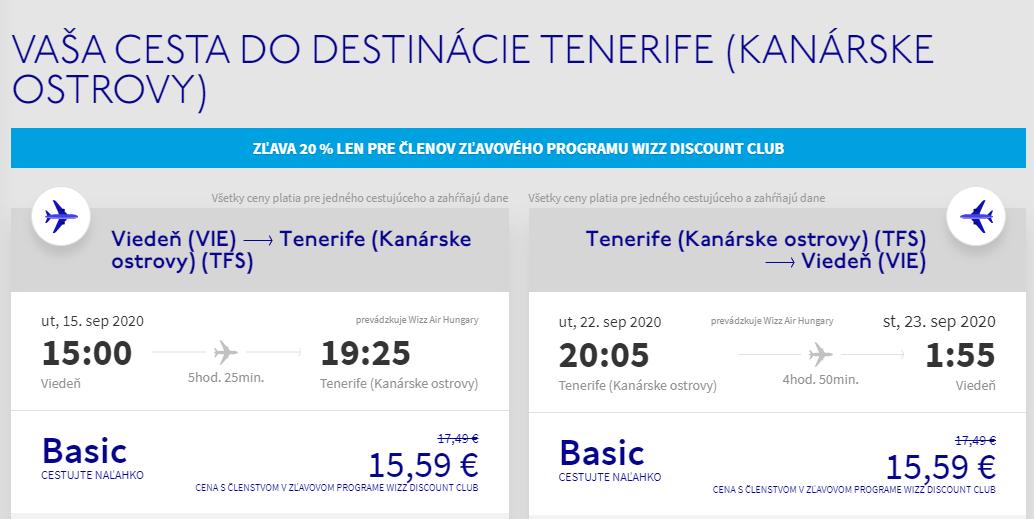 Kanárske ostrovy koncom leta. Tenerife z Viedne s letenkami od 31 eur