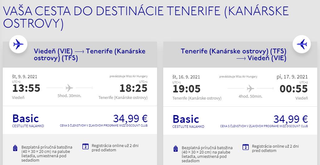 Kanárske ostrovy koncom leta. Tenerife z Viedne s letenkami od 70 eur