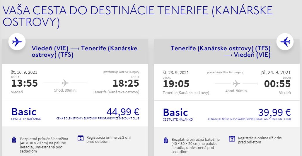 Kanárske ostrovy koncom leta. Tenerife z Viedne s letenkami od 85 eur
