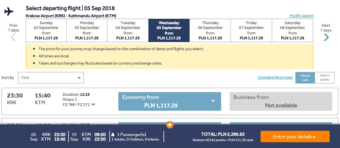 Kathmandú z Krakova s letenkami od 537 eur