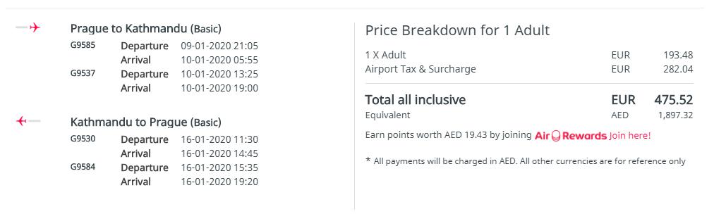 Kathmandú z Prahy počas hlavnej sezóny s letenkami od 476 eur