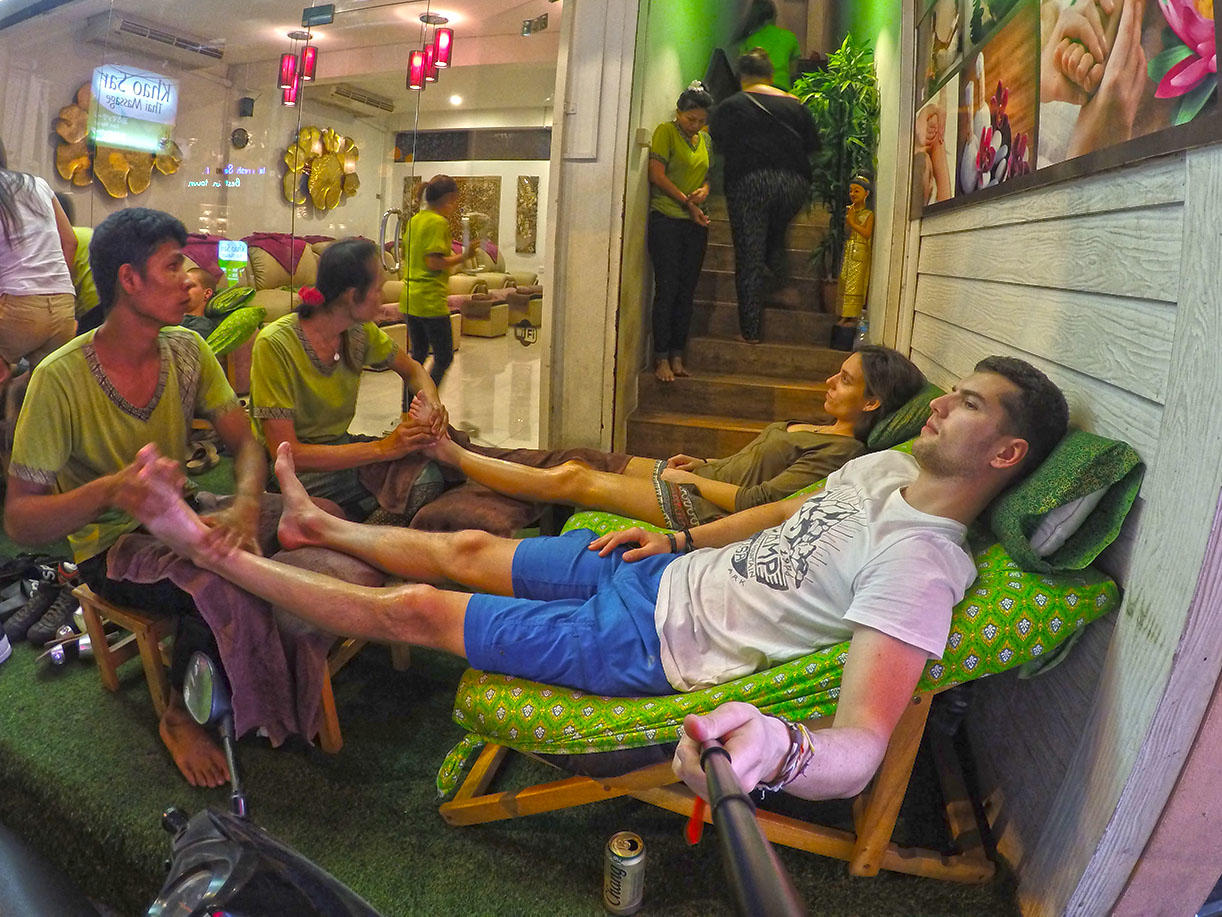 Khao San road beer&massage.