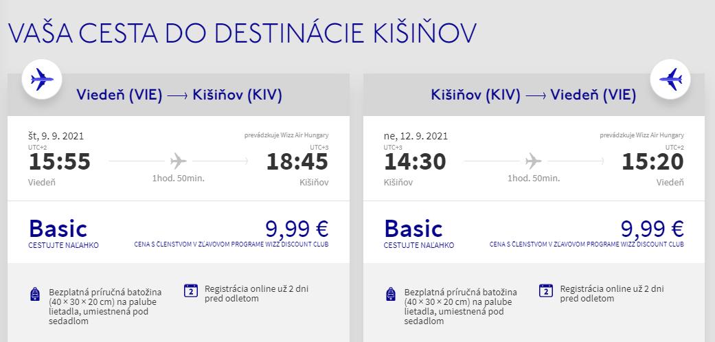 Kišinev z Viedne koncom leta s letenkami od 20 eur