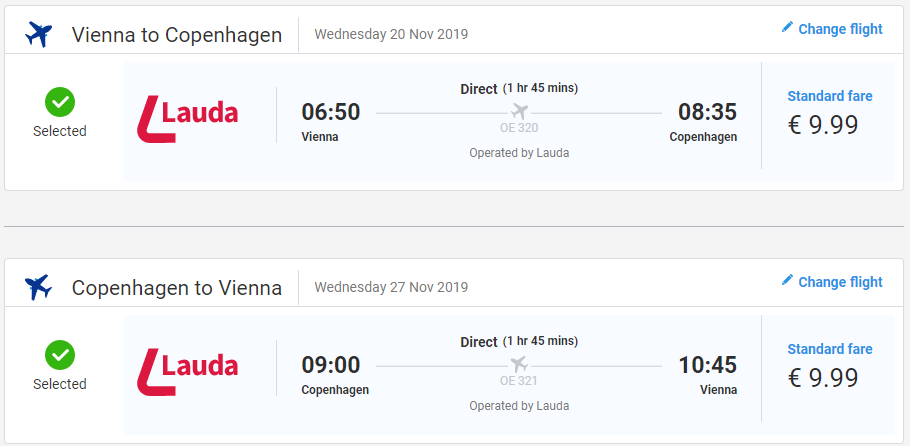 Kodaň z Viedne počas jesene s letenkami od 20 eur