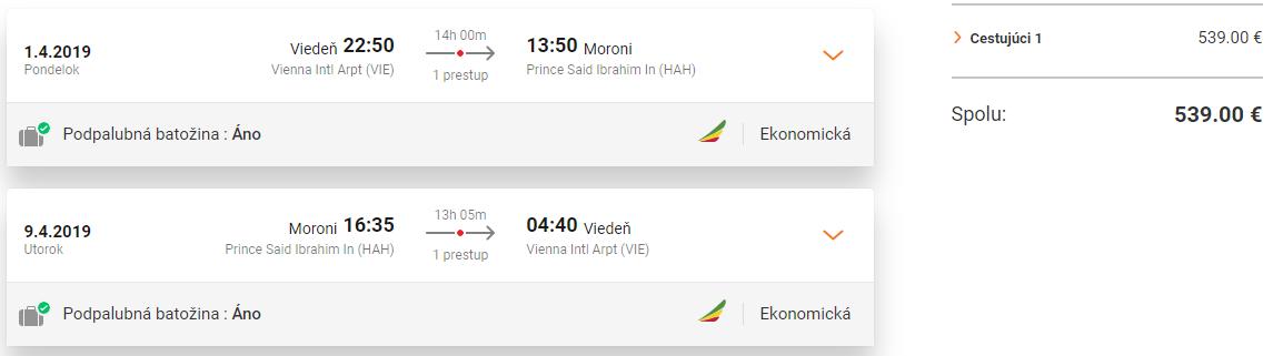 Komorské ostrovy z Viedne s letenkami od 539 eur