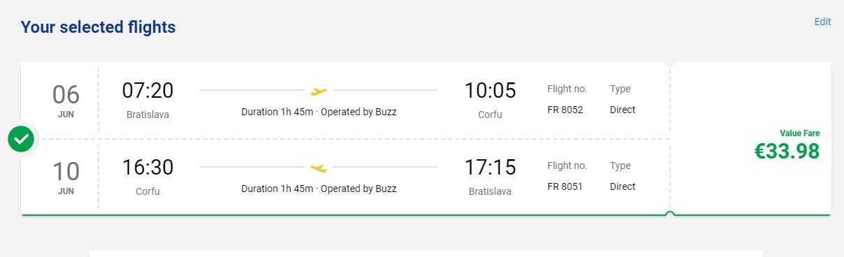 Korfu z Bratislavy s letenkami od 34 eur