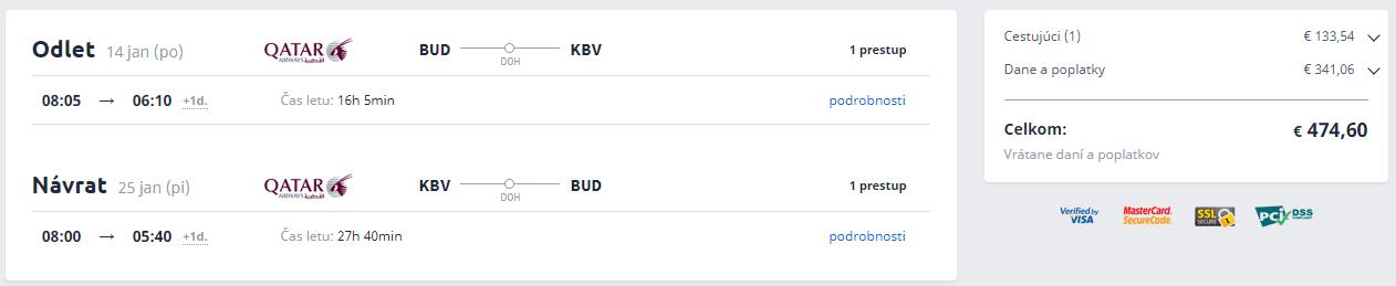 Krabi z Budapešti s Qatar Airways od 475 eur