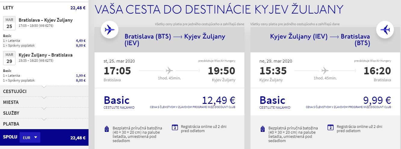 Kyjev z Bratislavy aj na predĺžený víkend od 22 eur