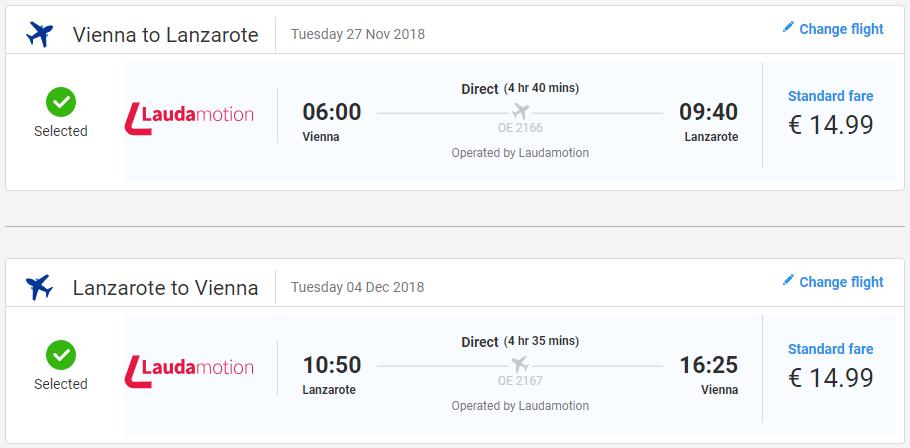 LANZAROTE - Spiatočné letenky z Viedne už od 30 eur
