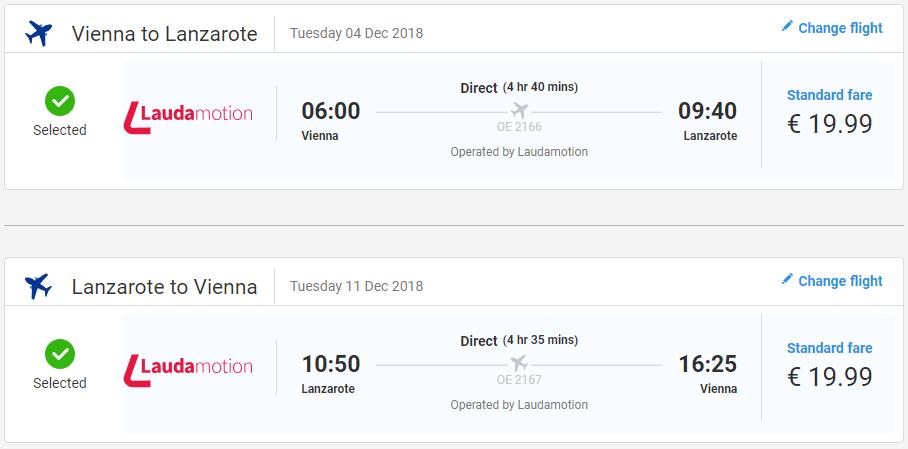 LANZAROTE - Spiatočné letenky z Viedne už od 40 eur