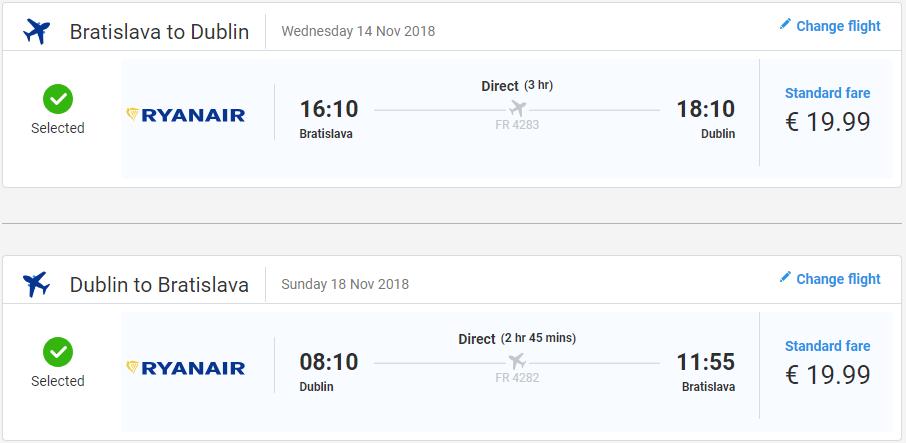 LETENKY DO ÍRSKA - Dublin z Bratislavy od 40 eur