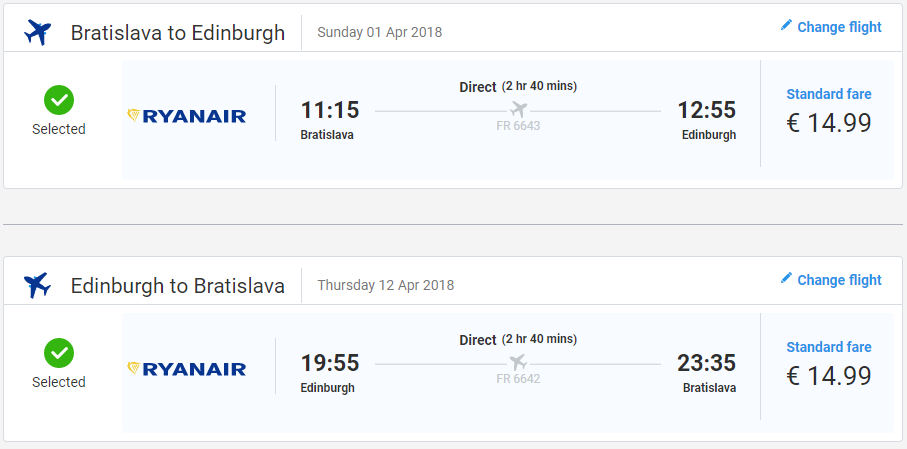 LETENKY DO ŠKÓTSKA - Edinburgh s odletom z Bratislavy 30 eur
