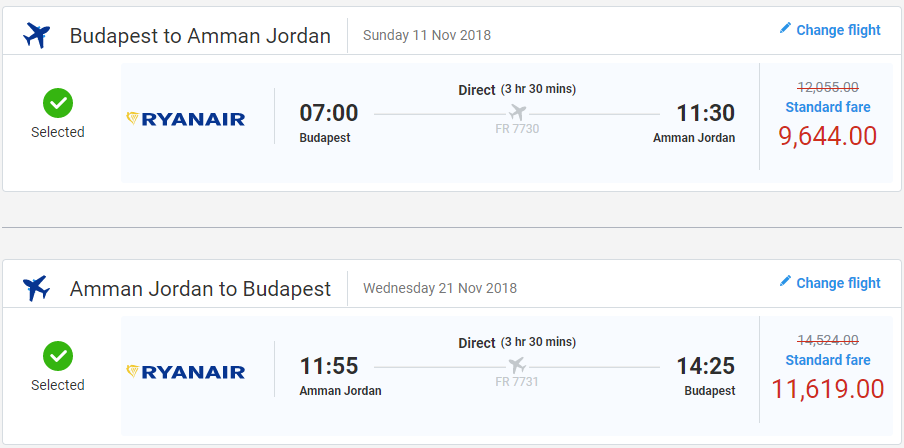 LETENKY DO JORDÁNSKA - Ammán z Budapešti od 68 eur