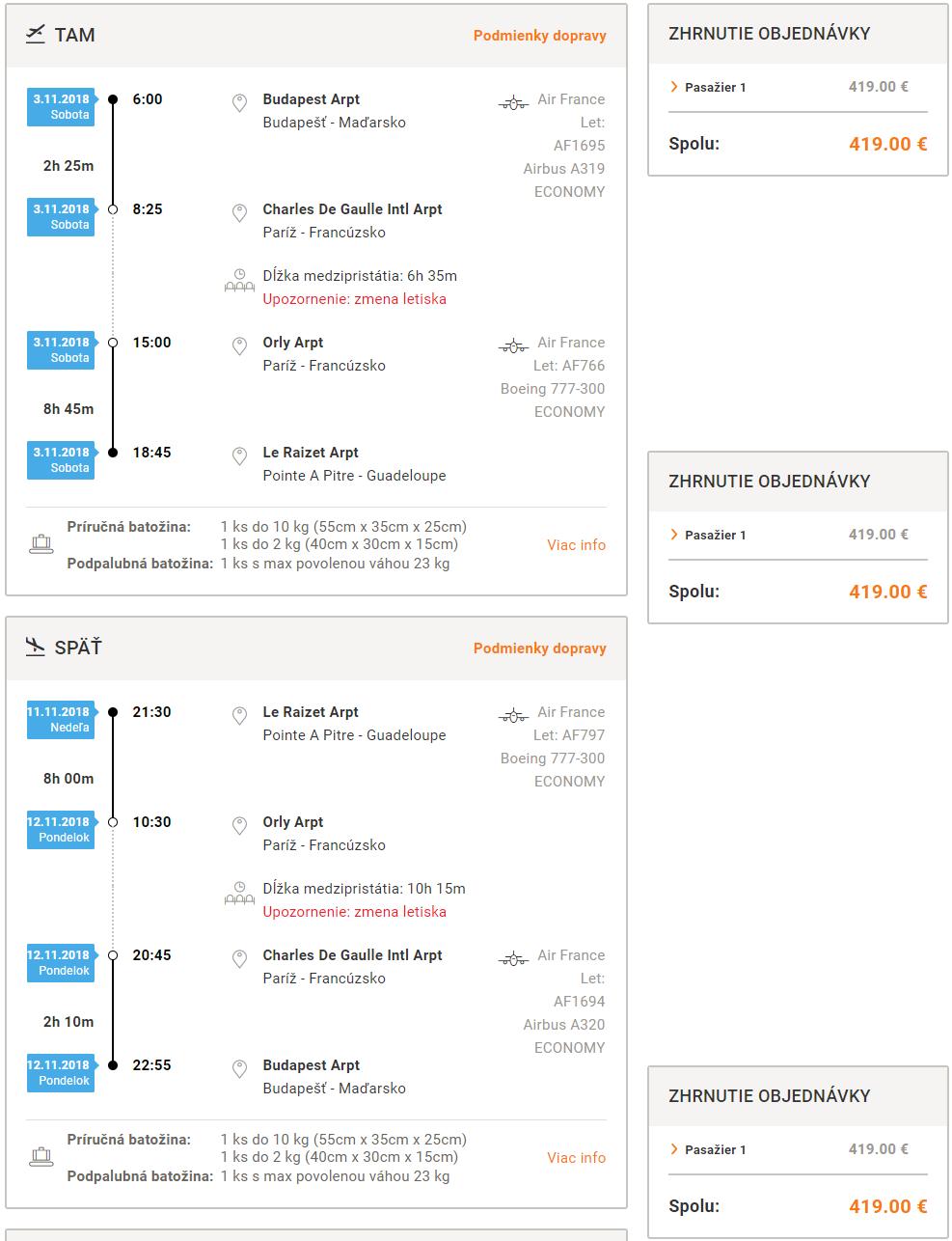 LETENKY DO KARIBIKU - Martinik alebo Guadaloupe z Budapešti od 419 eur