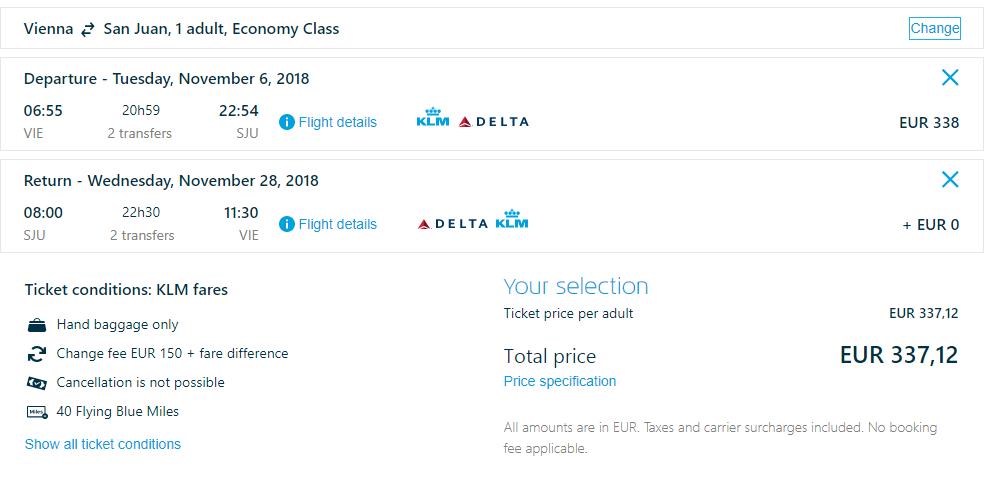 LETENKY DO KARIBIKU - Portoriko z Viedne už od 337 eur