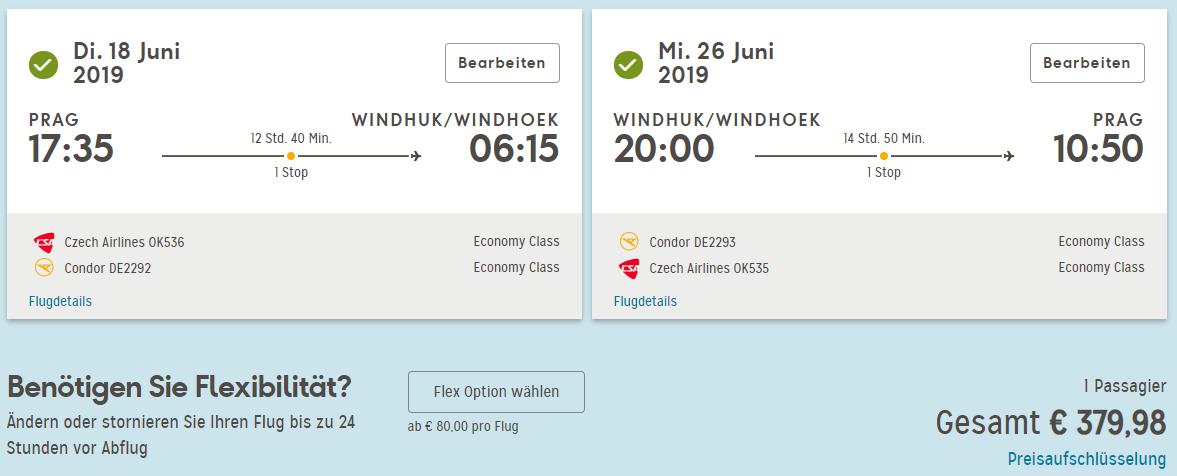 LETENKY DO NAMÍBIE - Windhoek s odletom z Prahy od 380 eur