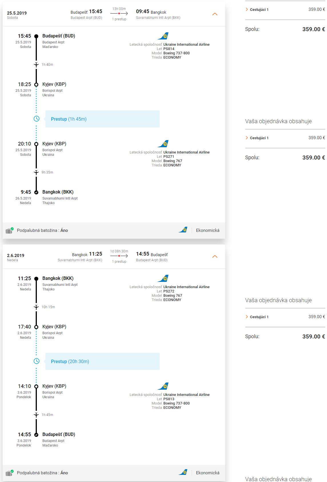 LETENKY DO THAJSKA - Bangkok z Budapešti od 359 eur