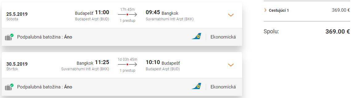 LETENKY DO THAJSKA - Bangkok z Budapešti od 369 eur