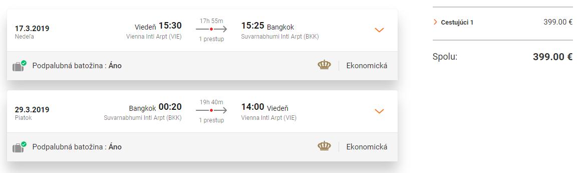 LETENKY DO THAJSKA - Viedeň z Budapešti od 399 eur