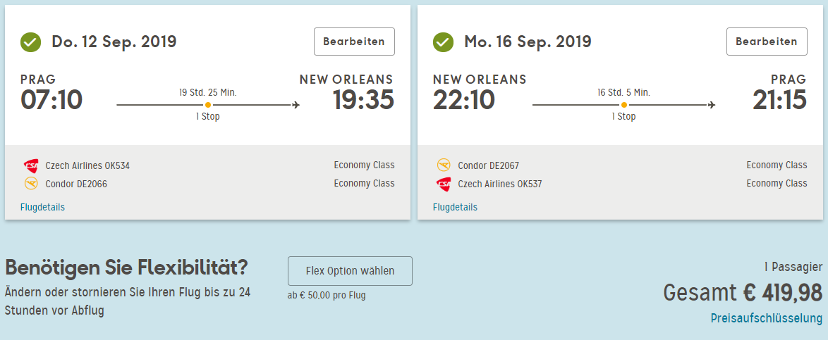 LETENKY DO USA - New Orleans z Prahy od 420 eur