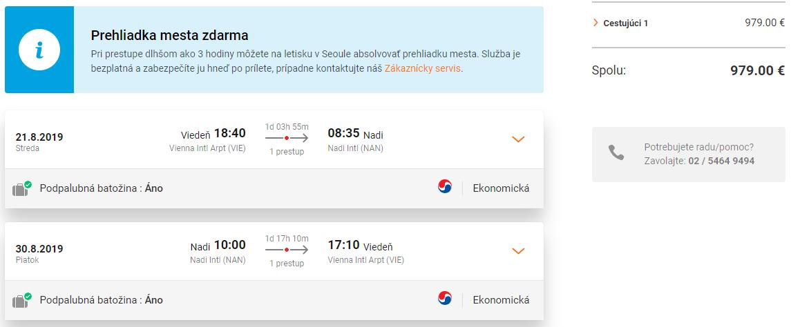 LETENKY NA FIDŽI - Nadi z Viedne od 979 eur