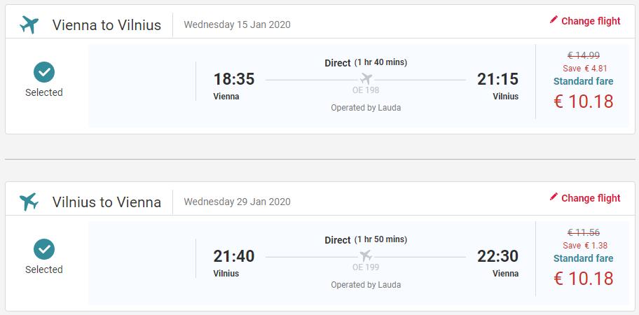 LITVA - Vilnius z Viedne s letenkami od 20 EUR