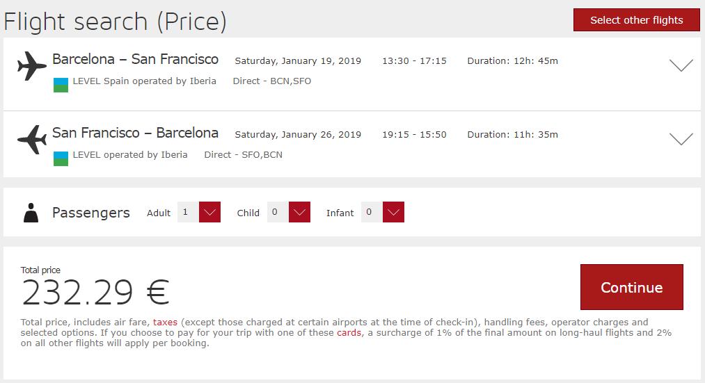 Lacné letenky z Barcelony do San Francisca od 232 eur