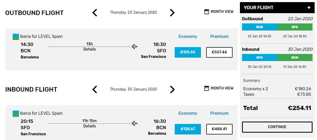 Lacné letenky z Barcelony do San Francisca od 254 eur