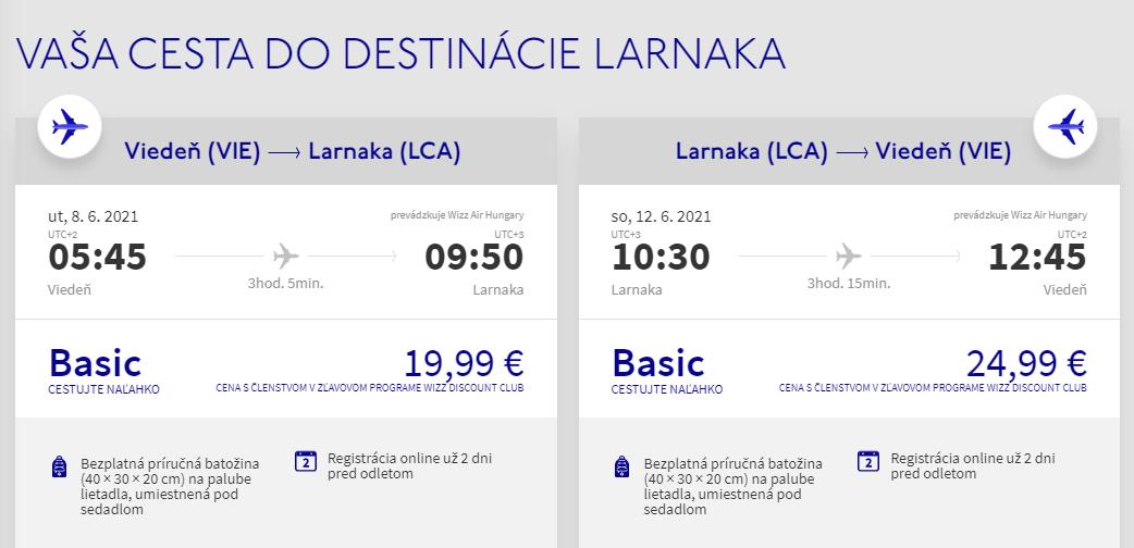 Larnaca z Viedne začiatkom leta s letenkami od 45 eur