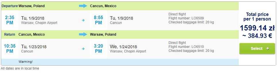 Last-minute letenky do mexického Cancunu od 385 eur
