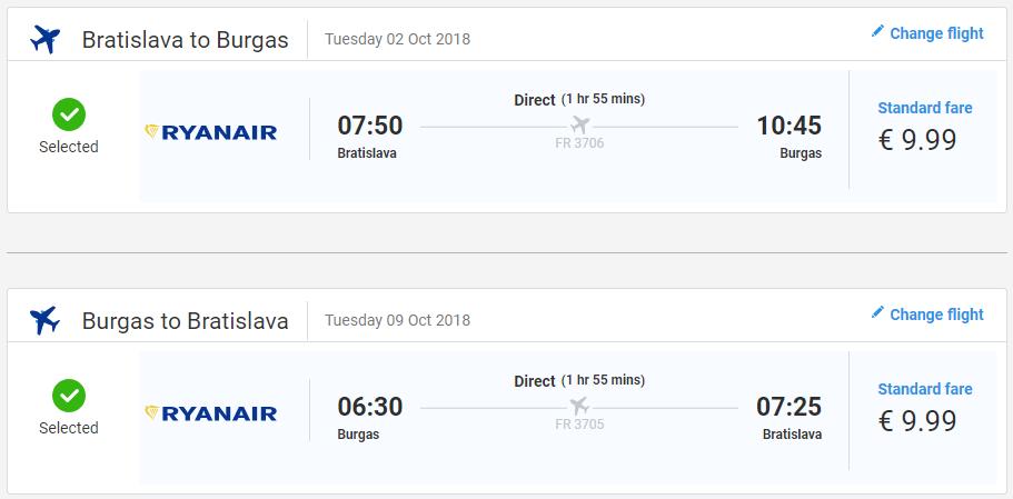 Letenky do Burgasu koncom letnej sezóny od 20 eur