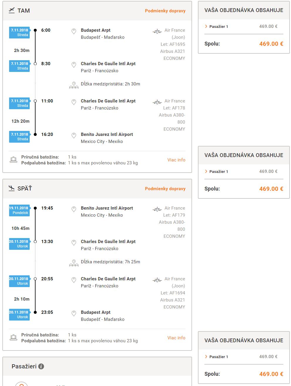 Letenky do Mexika počas hlavnej sezóny. Mexico City z Budapešti od 469 eur