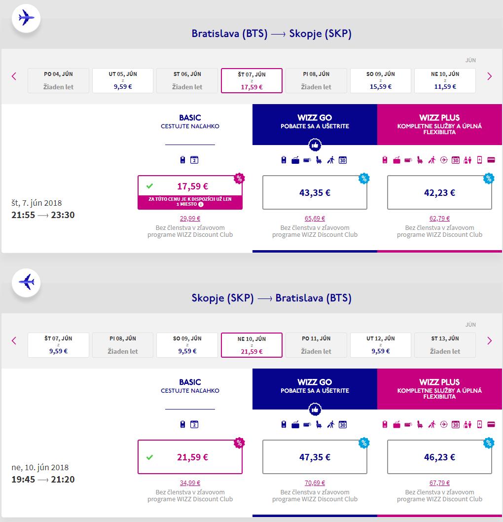 Letenky do Skopje na predĺžený víkend od 39 eur