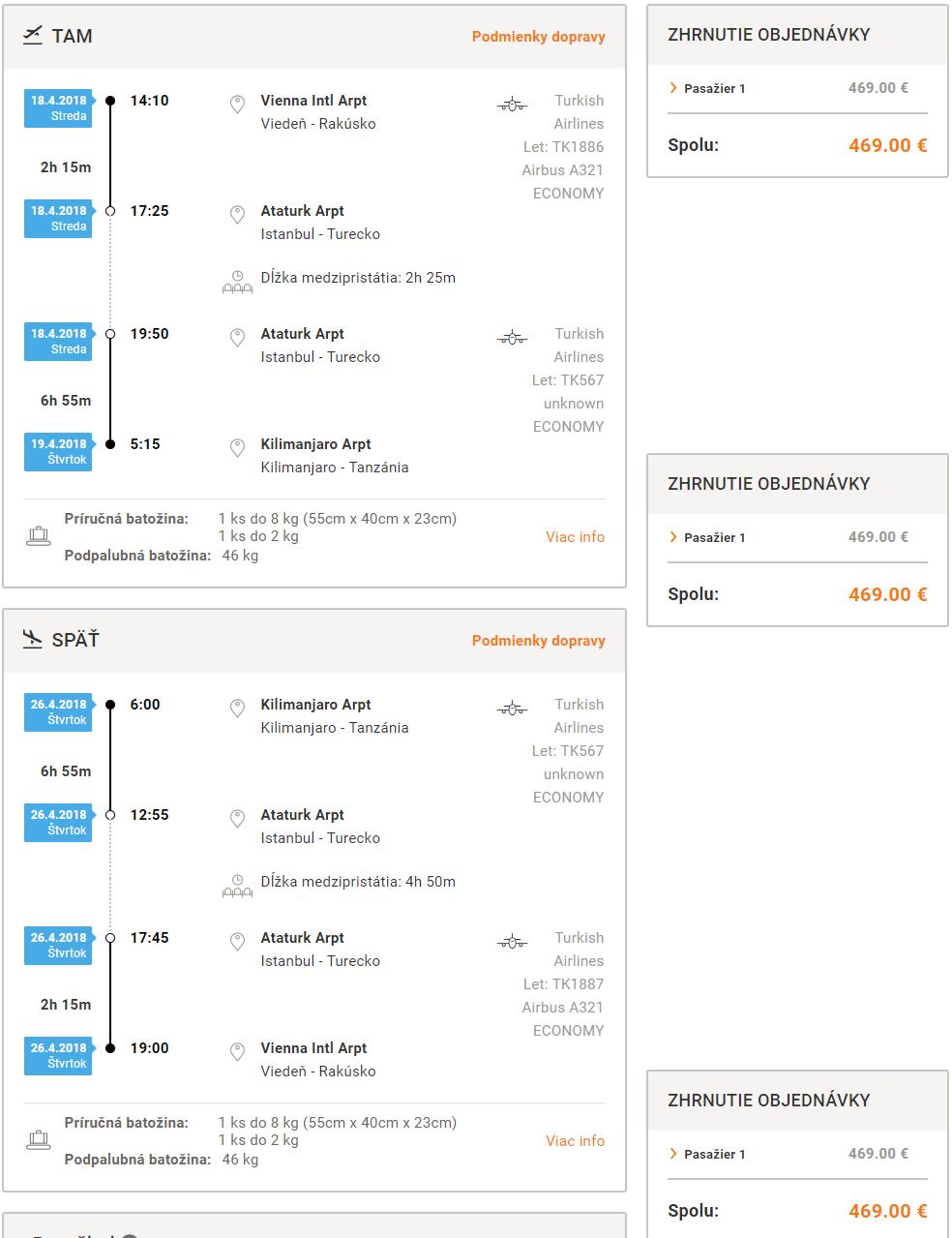 Letenky do Tanzánie - Kilimanjaro z Viedne už od 469 eur