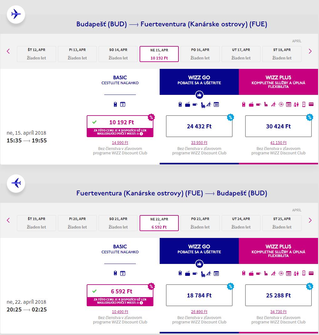 Letenky na Fuerteventura z Budapešti od 54 eur