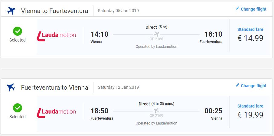 Letenky na Fuerteventura z Viedne od 35 eur
