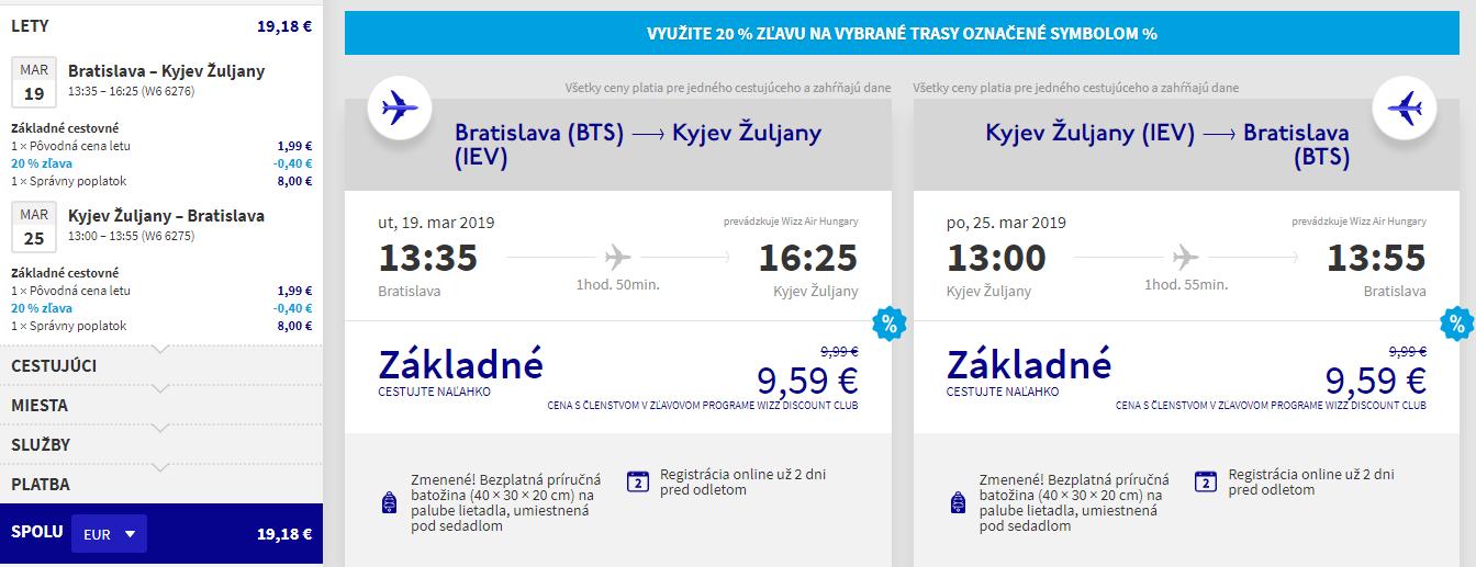 Letenky z Bratislavy do Kyjeva od 19 eur