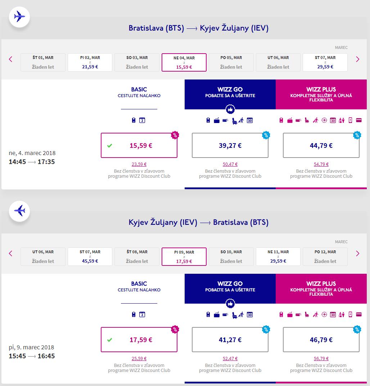 Letenky z Bratislavy do Kyjeva od 33 eur