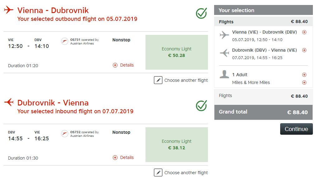 Letenky z Viedne do Dubrovníka od 88 eur