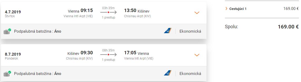 Letenky z Viedne do Kišineva aj počas letných prázdnin od 169 eur