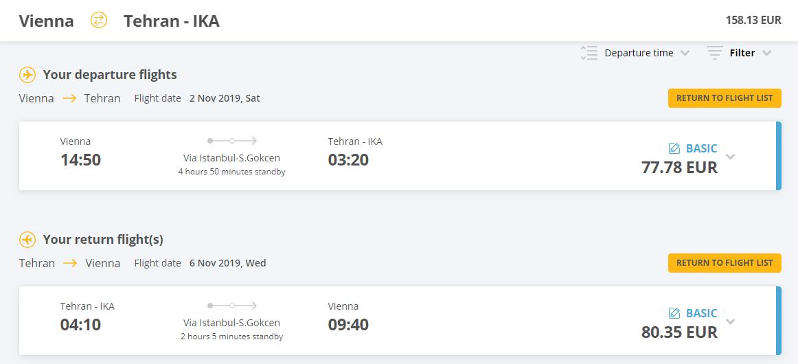 Letenky z Viedne do Teheránu od 158 eur