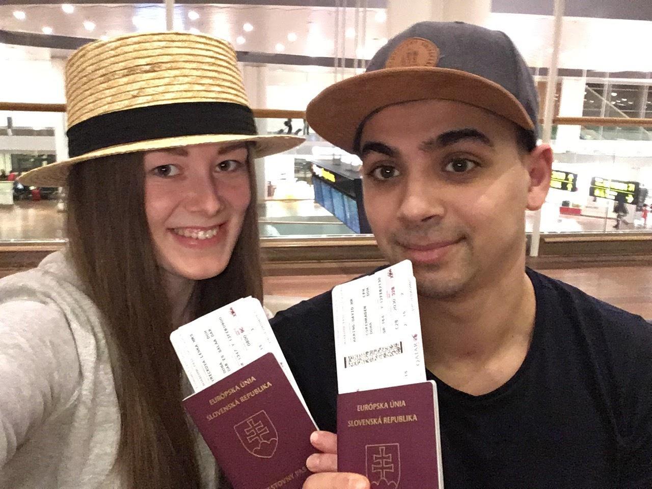 Letisko Kastrup v Kodani, pripravení na odlet do Qataru.