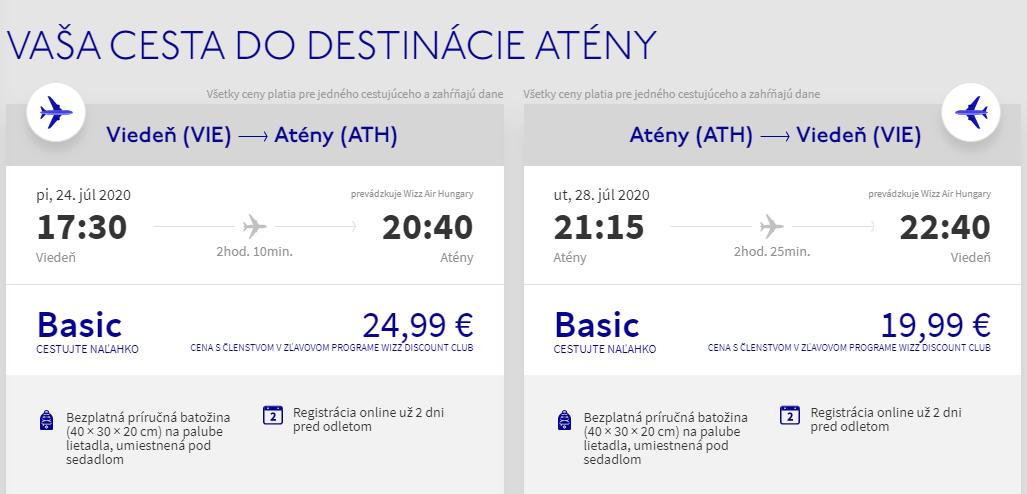 Letné Atény aj na predĺžený víkend. Letenky z Viedne od 45 eur
