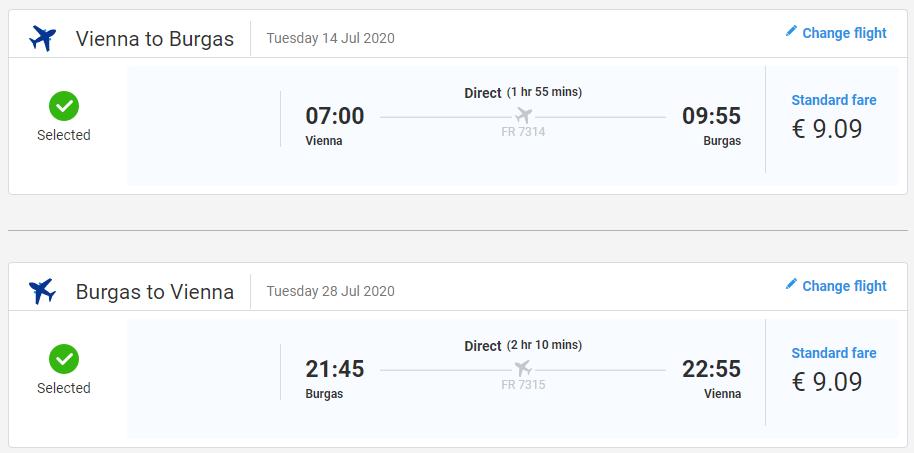 Leto na Slnečnom pobreží. Burgas z Viedne s letenkami od 18 eur
