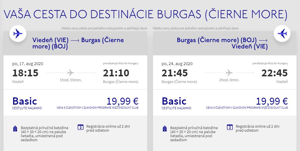 Leto pri Čiernom mori. Burgas z Viedne s letenkami od 40 eur